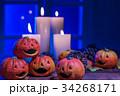 (ハロウィンイメージ)月明り越しのジャック・オー・ランタン 34268171