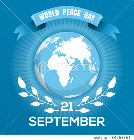 World Peace Day blue poster design 34268361