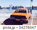 レトロなオレンジ色の車 34276047