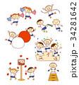 子供 運動会 小学生のイラスト 34281642