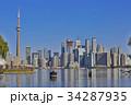 Toronto's skyline over Lake Ontario 34287935