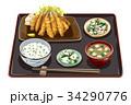 定食 ワカサギフライ定食 ワカサギフライのイラスト 34290776