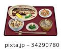 定食 和食 塩サバ定食のイラスト 34290780