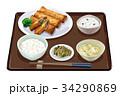 定食 春巻き 春巻き定食のイラスト 34290869