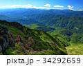 至仏山山頂から見る奥利根湖と谷川連峰・巻機山方面の眺め 34292659
