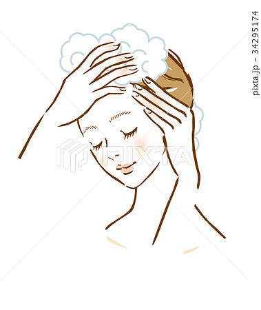 女性 洗髪 髪 シャンプー  34295174