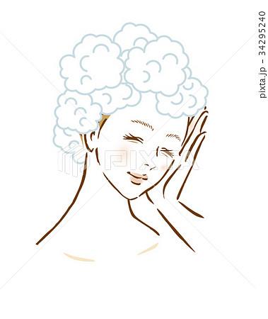 女性 シャンプー 洗髪 髪  34295240