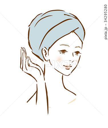 女性 髪 タオル ターバン 34295280