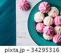 メレンゲ ピンク ピンク色の写真 34295316