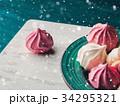 メレンゲ ピンク ピンク色の写真 34295321