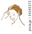 女性 薄毛 抜け毛のイラスト 34295373