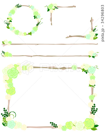 ローズデコレーションセット(グリーン系) 34296803
