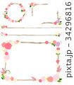フレーム 枠 薔薇のイラスト 34296816