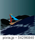 Sailing boat in storm 34296840