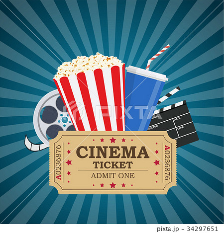 movie poster template のイラスト素材 34297651 pixta
