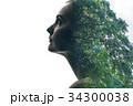 女性と樹々 34300038