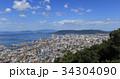 峰山より望む高松市中心部(サンポート高松、瀬戸内海、小豆島、.屋島) 34304090