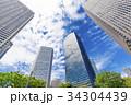 オフィス街の高層ビルと緑 34304439