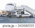飛行機 飛行場 ランプの写真 34306555