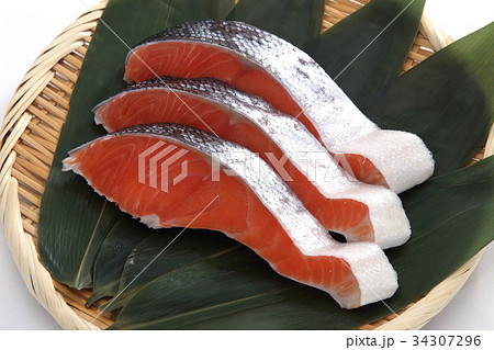 鮭の切身 34307296
