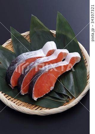 鮭の切身 34307321
