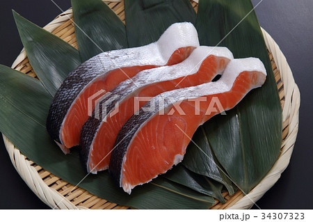 鮭の切身 34307323