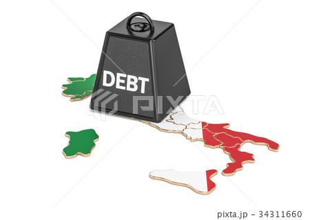 Italian national debt or budget deficit 34311660