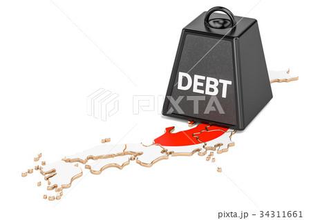 Japanese national debt or budget deficit 34311661