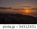 日の出 別府湾 別府市の写真 34312431