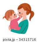 赤ちゃん 抱っこ 女の子 34315716