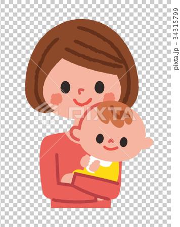 子育て中のママ 赤ちゃん 34315799