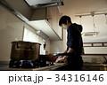 男の料理、調理シーン。 34316146