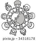モノクロ 地球の輪 34316178