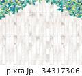 背景 壁 葉のイラスト 34317306