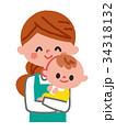 ベビーシッター 抱っこ 人物のイラスト 34318132
