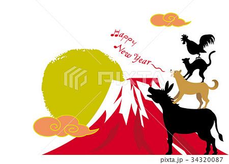 戌年年賀状 ブレーメンの音楽隊のイラスト素材 34320087 Pixta