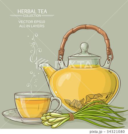 lemongrass tea illustration 34321080