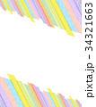 和紙 背景素材 フレームのイラスト 34321663