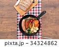 スキレット 朝食 料理の写真 34324862