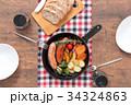 スキレット 朝食 料理の写真 34324863