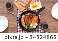 スキレット 朝食 料理の写真 34324865