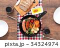 スキレット 朝食 料理の写真 34324974