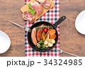 スキレット 朝食 料理の写真 34324985