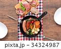 スキレット 朝食 料理の写真 34324987