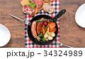 スキレット 朝食 料理の写真 34324989