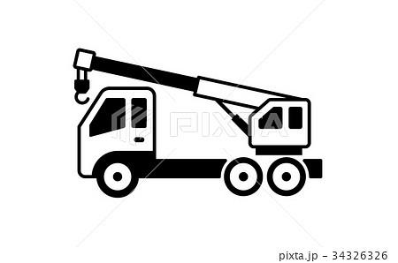 クレーン車 イラスト 34326326