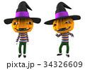 ジャックオーランタン 3Dイラスト 34326609