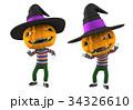 ジャックオーランタン 3Dイラスト 34326610