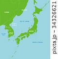 地図 / 北朝鮮と日本 極東地域 (英語) 34326621