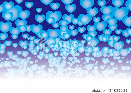背景素材壁紙 ハートマーク 模様 柄 パターン かわいい 愛情 恋愛 幸福 希望 チャンス 天国 光のイラスト素材